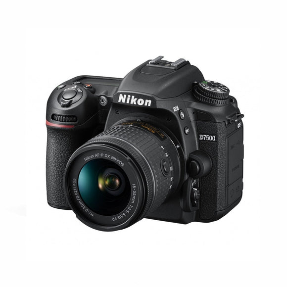 DSLR - Nikon D7500 Digital SLR Camera + AF-P DX 18-55mm F/3.5-5.6G VR Lens Kit