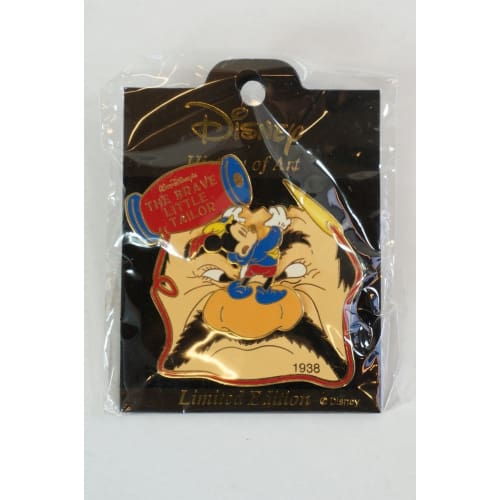 Disney Japan History Of Art Pin Le The Brave Little Tailor 1938 Mickey - K23Japan -Tokyo Shopper-