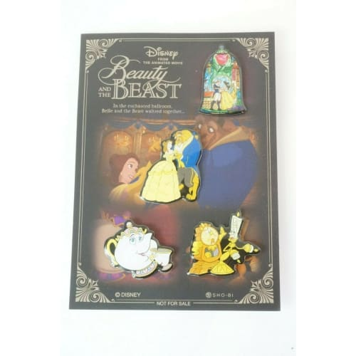 Disney JAPAN Pin Beauty & The Beast 2017 4 Pins Completed Set Novelty - k23japan -Tokyo Disney Shopper-