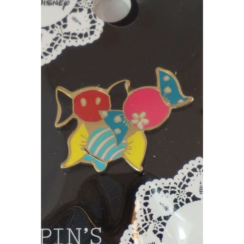 Disney Japan Pin Heart Collection Sweet Mickey Minnie Dypin-06 - K23Japan -Tokyo Shopper-
