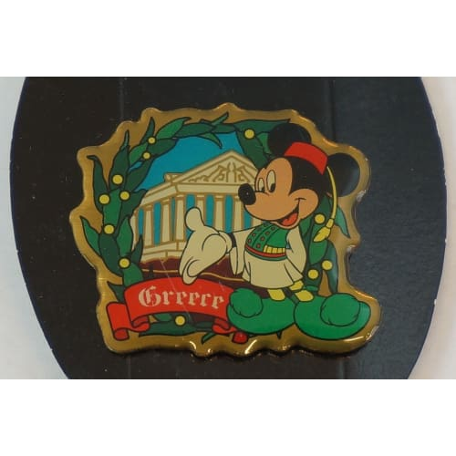 Disney Japan Pin Morinaga World Travel Mickey X Greece - K23Japan -Tokyo Shopper-