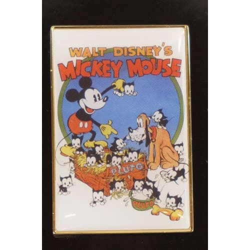Disney Japan Pin Uniqlo Collaboration Le Art Poster Mickey Mouse Pluto - K23Japan -Tokyo Shopper-