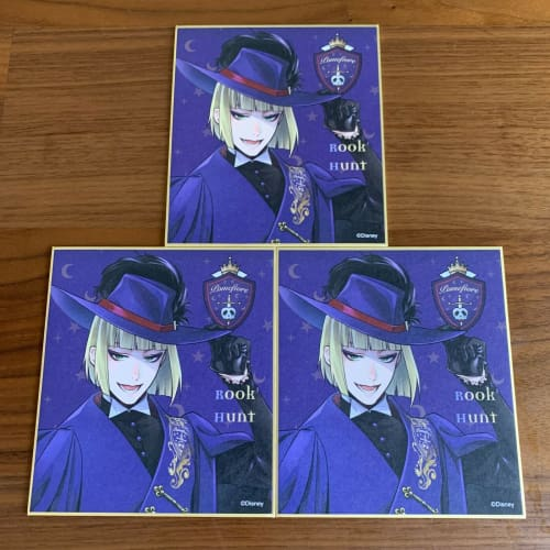 Disney Japan x Twisted Wonderland Autograph Borad SHIKISHI x 3 Set Rook - k23japan -Tokyo Disney Shopper-