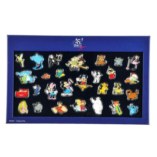 Disney Store Japan Pin 25Th Anniversary Box Each Sell Sulley & Mike Monsters Inc - K23Japan -Tokyo Shopper-