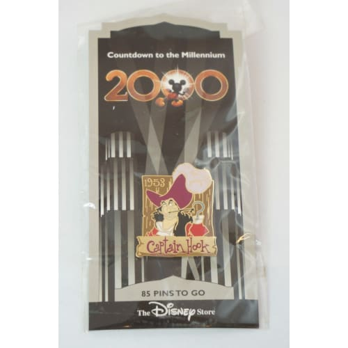 Disney Store Japan Pin Countdown 2000 #86 Captain Hook Peter Pan 1953 - K23Japan -Tokyo Shopper-