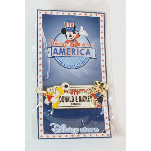Disney Store Japan Pin Le 2000 Across America Mississippi X Donald Mickey - K23Japan -Tokyo Shopper-