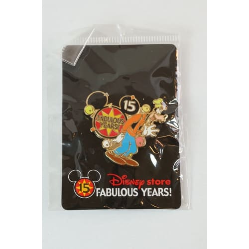 Disney Store Japan Pin Le 800 15Th Anniversary Fabulous Years! Goofy Jds - K23Japan -Tokyo Shopper-