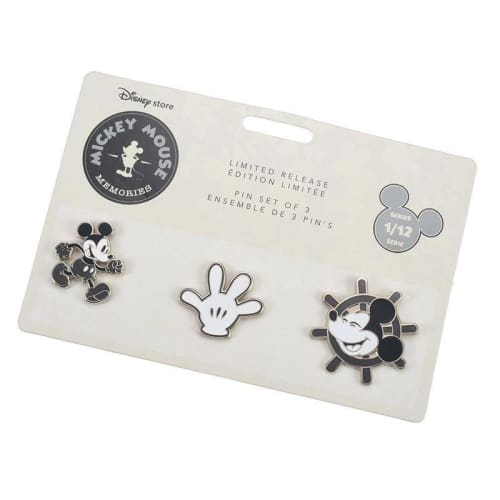 Disney Store Japan Pin Mickey Memories Series 1 Jan Steamboat Willie - K23Japan -Tokyo Disney Shopper-