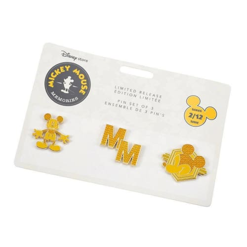 Disney Store Japan Pin Mickey Memories Series 2 Feb Mm Yellow - K23Japan -Tokyo Disney Shopper-