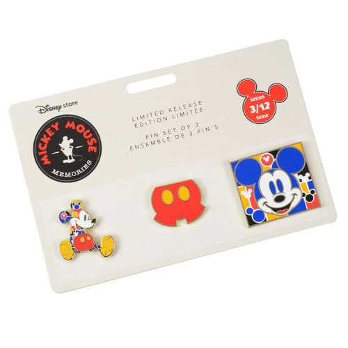 Disney Store Japan Pin Mickey Memories Series 3 Mar Colorful - K23Japan -Tokyo Disney Shopper-