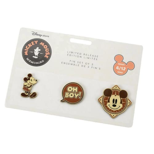 Disney Store Japan Pin Mickey Memories Series 4 Apr Oh Boy - K23Japan -Tokyo Disney Shopper-