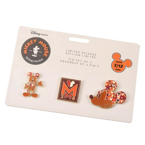 Disney Store Japan Pin Mickey Memories Series 7 Jul Chic Color - K23Japan -Tokyo Disney Shopper-