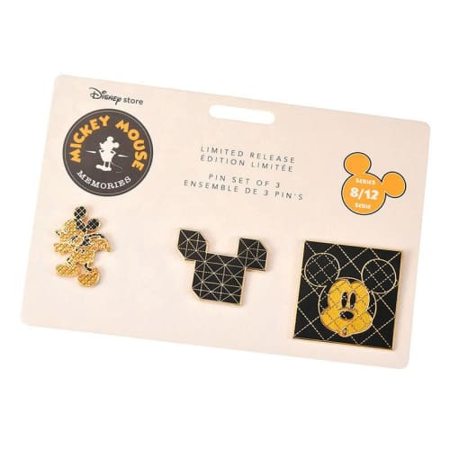 Disney Store Japan Pin Mickey Memories Series 8 Aug Blocks - K23Japan -Tokyo Disney Shopper-
