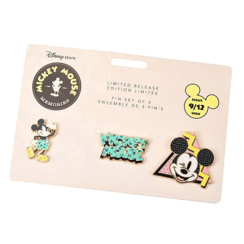 Disney Store Japan Pin Mickey Memories Series 9 Sep Pastel Color - K23Japan -Tokyo Disney Shopper-
