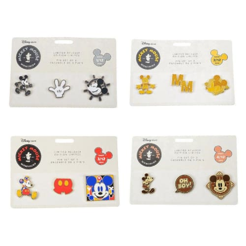 Disney Store Japan Pin Mickey Mouse Memories 12 Completed Set - K23Japan -Tokyo Disney Shopper-