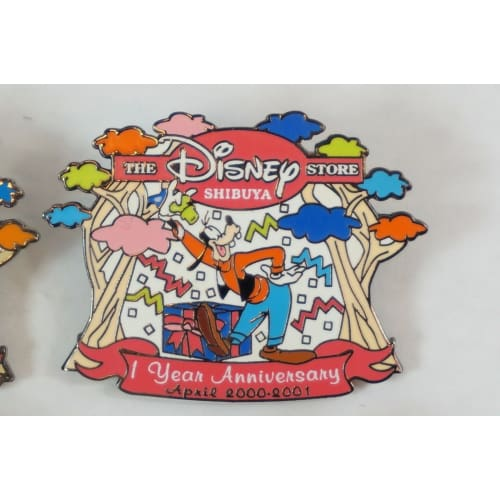 Disney Store Japan Pin Shibuya Happy Anniversary Mickey Friends 6 Pins Set - K23Japan -Tokyo Shopper-