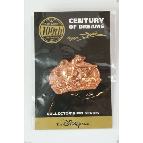 Disney Store Japan Pin Walt 100Th Century #99 Bronze Mickey Jds - K23Japan -Tokyo Shopper-