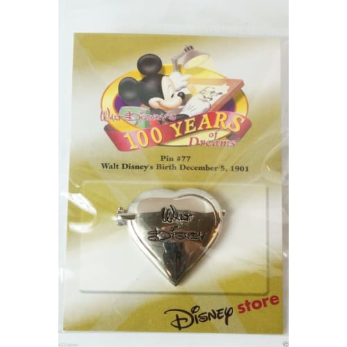 Disney Store Japan Pin Walt 100Th Dreams #77 Walts Birthday Dec.5 1901 - K23-Japan