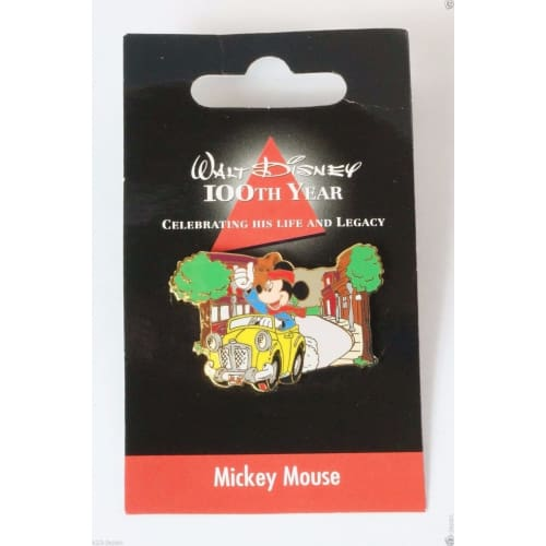 Disney Store Japan Pin Walt 100Th Legacy Mickey Mouse Driving A Car - K23-Japan