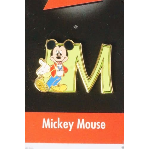 Disney Store Japan Pin Walt 100Th Legacy Mickey Mouse Initial M - K23-Japan