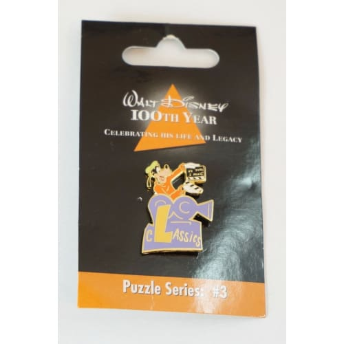 Disney Store Japan Pin Walt 100Th Legacy Puzzle Series #3 Goofy Initial L - K23Japan -Tokyo Disney Shopper-