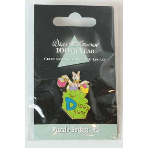 Disney Store Japan Pin Walt 100Th Legacy Puzzle Series #5 Daisy Initial D - K23Japan -Tokyo Shopper-