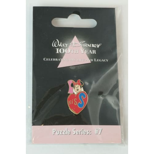 Disney Store Japan Pin Walt 100Th Legacy Puzzle Series #7 Minnie Initial S - K23Japan -Tokyo Shopper-