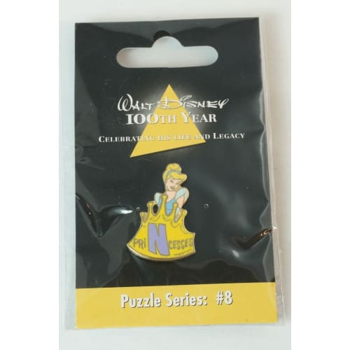 Disney Store Japan Pin Walt 100Th Legacy Puzzle Series #8 Cinderella Initial N - K23Japan -Tokyo Shopper-