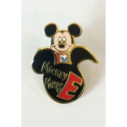 Disney Store Japan Pin Walt 100Th Legacy Puzzle Series #9 Mickey Initial E - K23Japan -Tokyo Shopper-