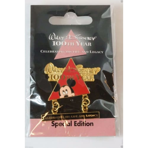 Disney Store Japan Pin Walt 100Th Legacy Special Edition Mickey Mouse - K23Japan -Tokyo Shopper-