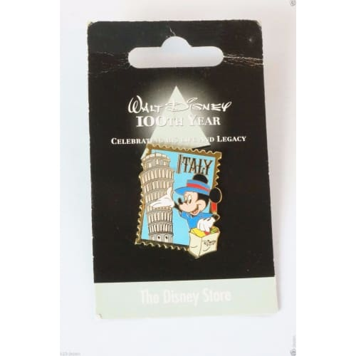 Disney Store Japan Pin Walt 100Th Legacy The Mickey X Italy Jds - K23Japan -Tokyo Shopper-