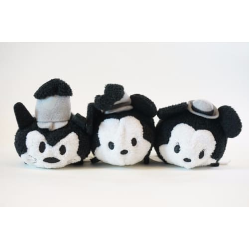 Disney Store Japan Tsum 4Th Anniversary Each Sell Steamboat Willie 3 Piece - K23Japan -Tokyo Shopper-