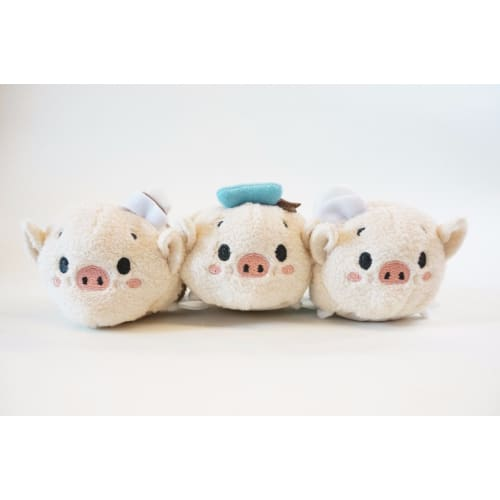 Disney Store Japan Tsum 4Th Anniversary Each Sell Three Little Pigs - K23Japan -Tokyo Shopper-