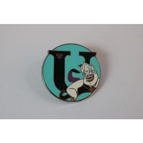 Disney World Pin 2008 Alphabet Villains Ursula U - K23Japan -Tokyo Shopper-
