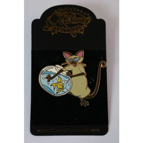 Disney World Pin Le 1000 Auction Exclusive Si & Am With Fishbowl - K23Japan -Tokyo Disney Shopper-