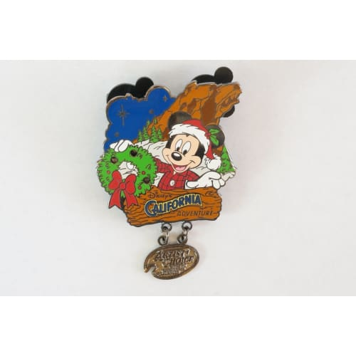 Disney World Pin Le 2001 California Adventure Artist Choice Mickey Christmas - K23Japan -Tokyo Shopper-