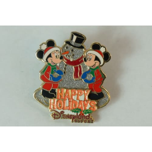 Disney World Pin Le 3600 Dlr Happy Holidays 2001 Mickey Minnie - K23Japan -Tokyo Shopper-