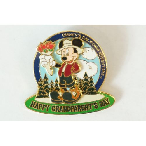 Disney World Pin Le 3600 Happy Grandparents Day Mickey 2001 Dca - K23Japan -Tokyo Shopper-