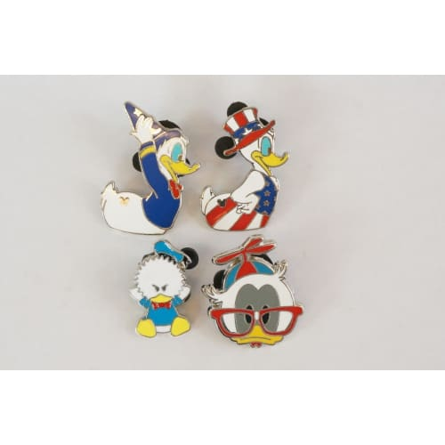 Disney World Pin Trading 2007 Donald Costume Assorted 4 Pins Set - K23Japan -Tokyo Shopper-