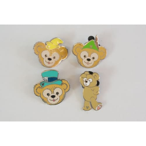 Disney World Pin Trading Cosplay Duffy 4 Pins Set - K23Japan -Tokyo Shopper-