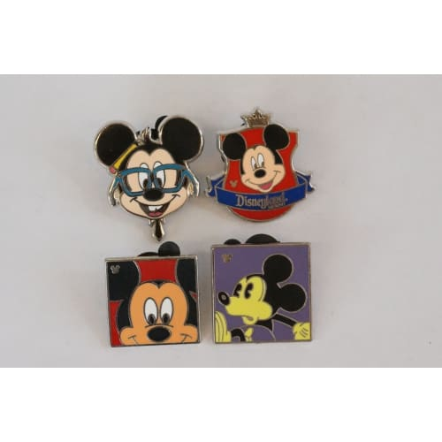 Disney World Pin Trading Mickey Assorted 4 Pins Set - K23Japan -Tokyo Shopper-