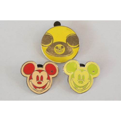 Disney World Pin Trading Mickey Shape Assorted 3 Pins Set - K23Japan -Tokyo Shopper-
