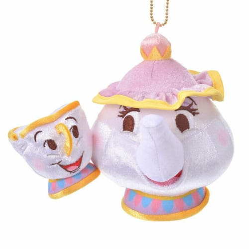 Pre-Order Disney Store JAPAN 2020 Beauty & Beast Plush Key Chain Mrs.Potts Chip - k23japan -Tokyo Disney Shopper-