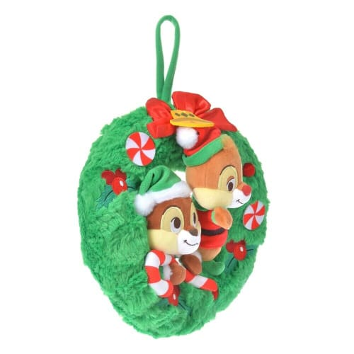 Pre-Order Disney Store JAPAN 2020 Christmas Wreath Plush Chip & Dale - k23japan -Tokyo Disney Shopper-
