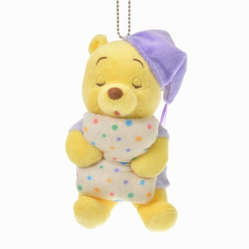 Pre-Order Disney Store JAPAN 2020 GUSSURI Good Night Plush Key Chain Pooh - k23japan -Tokyo Disney Shopper-