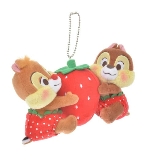Pre-Order Disney Store JAPAN 2020 ICHIGO Strawberry Plush Key Chain Chip & Dale - k23japan -Tokyo Disney Shopper-