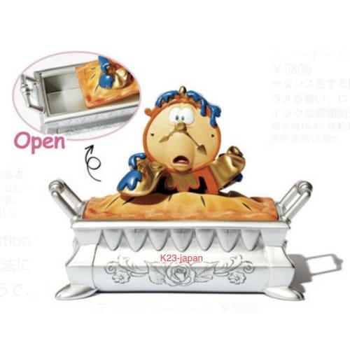 Pre-Order Disney Store JAPAN 2021 Beauty & The Beast Figure Cogsworth in Pie - k23japan -Tokyo Disney Shopper-