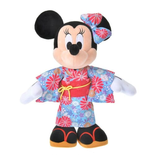 Pre-Order Disney Store JAPAN 2021 Japanese Taste Plush Minnie YUKATA H 12.2 - k23japan -Tokyo Disney Shopper-