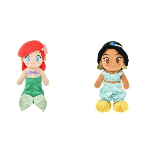 Pre-Order Disney Store Japan 2021 NEW Plush nuiMOs Princess Ariel & Jasmine - k23japan -Tokyo Disney Shopper-