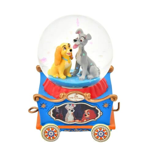 Pre-Order Disney Store JAPAN Collective Snow Globe Lady & The Trump - k23japan -Tokyo Disney Shopper-